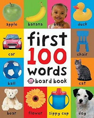 Baby First 100 Words Toddler Early Learning Educational Board Book Pictures Gift