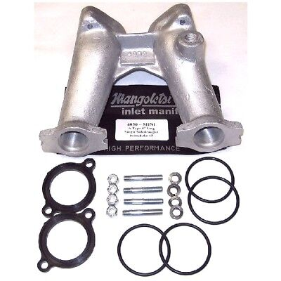 Mangoletsi DHLA DCOE 45  Mini / A Series 6 inch single carburettor manifold