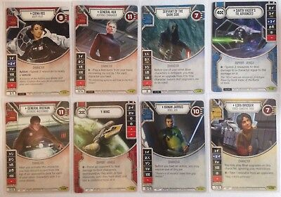 Star Wars Destiny Empire at War Rare Card with Dice Selection