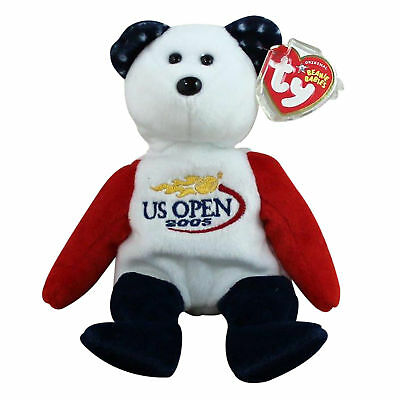 Ty Beanie Baby Smash - MWMT (Bear Gold Flame US Open 2005) Tennis