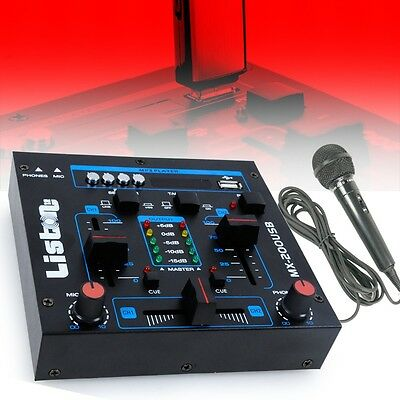 Party Room Club School Concert Event DJ PA Equipment MP3 USB Mixer Micro