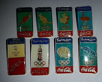 1996 Coca Cola Sydney 2000 Olympics lot of 8 different pins in great condition