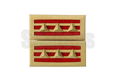 WWII Chinese army Infantry officer colonel collar rank
