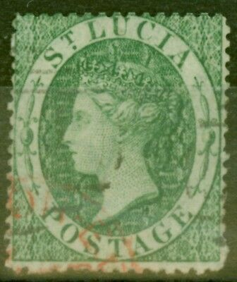 St Lucia 1860 (6d) Green SG3 Fine Used