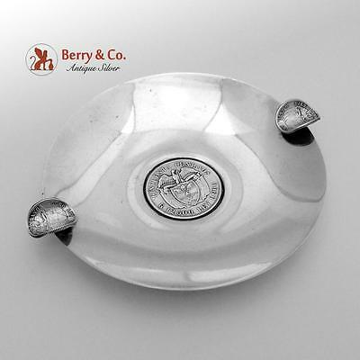 Vintage Columbian Coin Ashtray Sterling Silver 1940