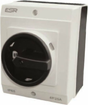 ESR Electrical Lockable Switch Rotary DC Isolator 4 Pole 20A IP65 Enclosure Box