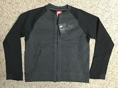 Nike Sportswear Tech Fleece Bomber Big Kids' (Boys') Jacket 856188 032 Sz L