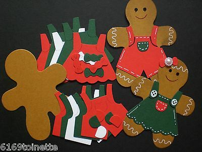 GINGERBREAD BOYS / MEN & GIRLS / LADIES Christmas Die-cuts (Makes 10) Crafts