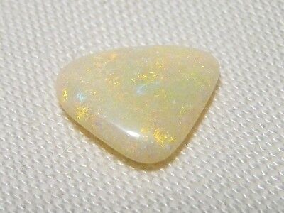 "White Opal Gemstone Cabochon ""lambina"" 14 X 11Mm, 3.5Ct ""new"" Auz Made C126"