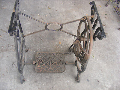 Antique Household Sewing Machine Iron TREADLE Legs - Salvage Industrial Legs