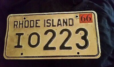 1966 Rhode Island License Plate Antique  Classic  Vintage Collector 1