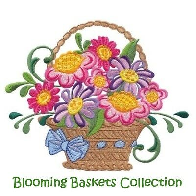 Blooming Baskets Collection - Machine Embroidery Designs On Cd
