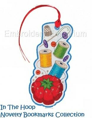 In The Hoop Novelty Bookmark Collection - Machine Embroidery Designs On Cd
