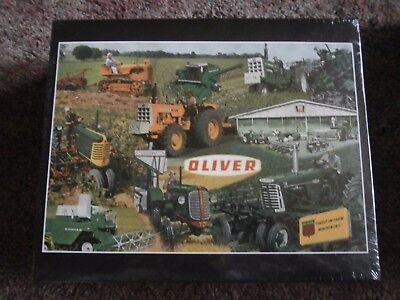 OLIVER FOR MEN WHO GROW Tractor Puzzle-70,77,770,1960,Combine-2008