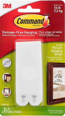3M Command Large Adhesive Picture Poster Hanging Strips Damage Free Wall 17206