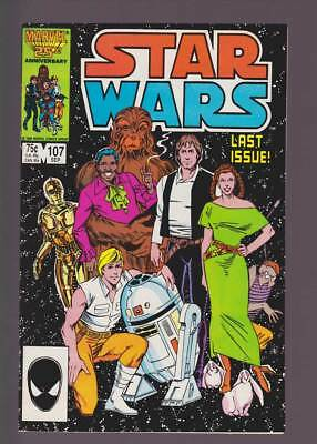 Star Wars # 107  Super scarce Last Issue !  grade 8.5  scarce book !