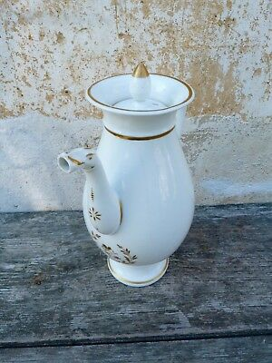 Antique Victorian Napoleon III French Sevres Vieux Paris coffee pot