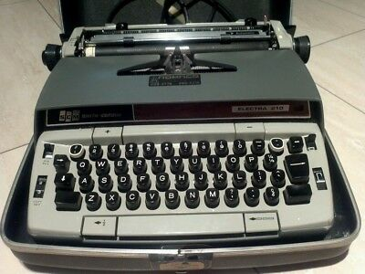 vintage Smith Corona Electra 210 Portable Electric Typewriter with case