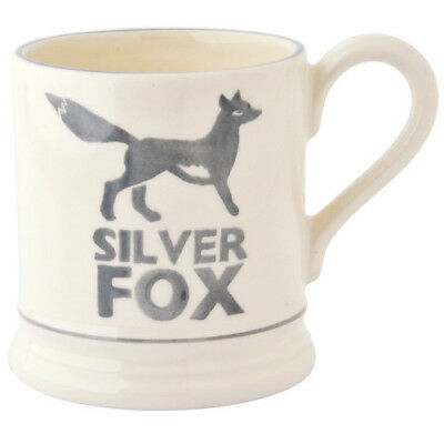 EMMA BRIDGEWATER POTTERY NEW HALF PINT MUG - 2017 Design - Silver Fox