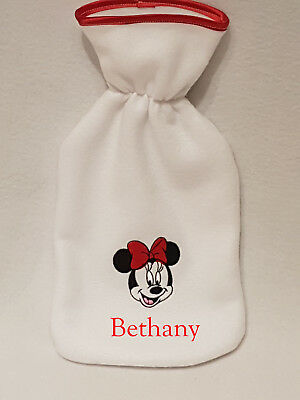 Disney Minnie Mouse face hot water bottle personalised girls ladies xmas gift
