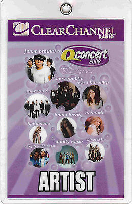 Jonas Brothers --- One Republic --- Maroon 5 - Artist - Laminated Backstage Pass