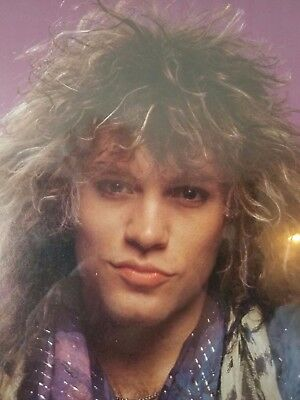 """JON BON JOVI 1980's Poster the younger years approx 20"""" X 16"""" vintage"""