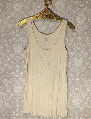 Bump in the Night Maternity Sleeveless Scoop Neck Night Top Sz M (EJ-AB)