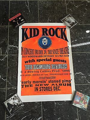 Rare Kid Rock EMSP CD Release Party Poster Top Dog 1995 Howling Diablos Badass