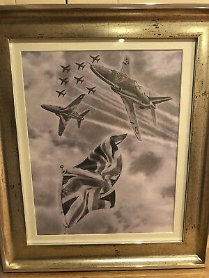 """Red arrows"""" flying the flag""""Limited edition print"""