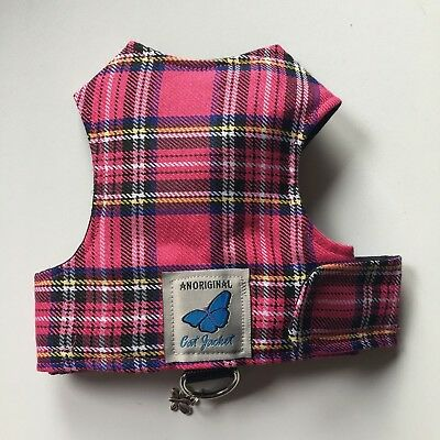 Butterfly Cat Jackets - Cat Walking Harness Jacket Tartan Plaid Fabric designs