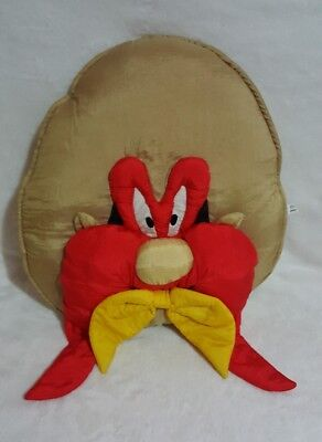 3D Looney Tunes YOSEMITE SAM plush stuffed nylon PILLOW head play face Large 19""