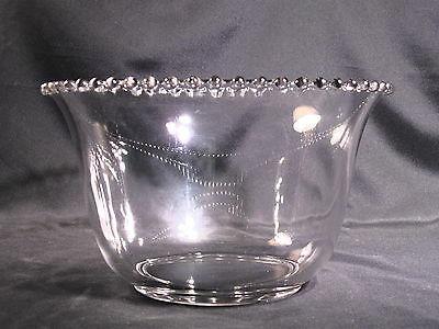 Imperial Glass Ohio Candlewick Punch Bowl Clear