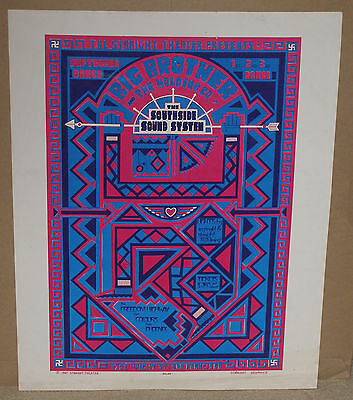 Straight Theater Big Brother (W/janis) Fillmore Fd Aor Family Dog Era Poster