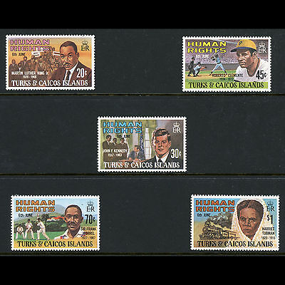 TURKS & CAICOS Is 1980 Human Rights. SG 624-628. Mint Never Hinged. (AT207)