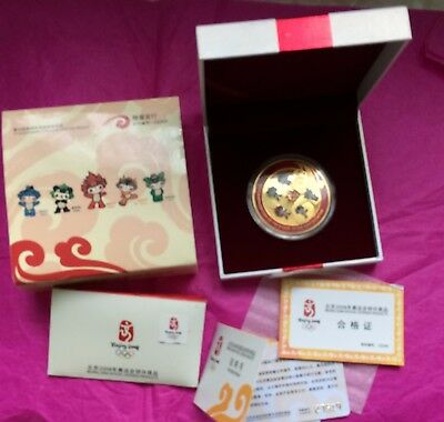 Beijing 2008 Medalion Olympics  Boxed Official Licensed Product