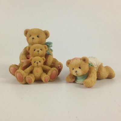 Cherished Teddies Set Of Two Figurines Theo, Sam, Tyler And Betsy
