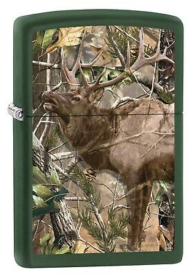 Zippo Lighter: Realtree Elk - Green Matte 78924