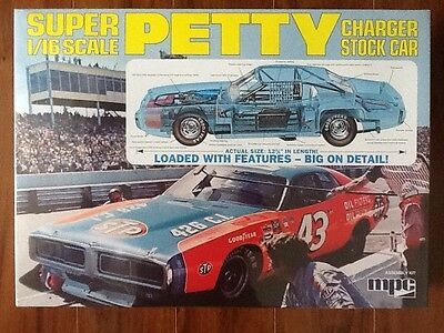 Mpc 1/16  Richard Petty #43 Stp  Charger Stock Car  Kit # 767 New Factory Sealed