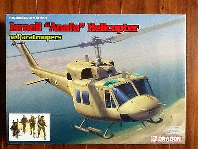 """Dragon 1/35 Israeli """" Anafa """" Helicopter W/ Paratroopers  # 3543 Factory Sealed"""