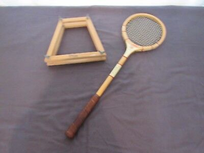 "Vintage Bancroft ""The Racquet Club"" Squash Racquet Display Prop Staging"