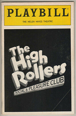 "Playbill ""High Rollers Social and Pleasure Club"" 1992 FLOP Vivian Reed"