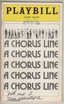 """""""A Chorus Line""""   Playbill  6th MONTH  1976  OBC  Broadway"""
