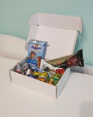 Russian chocolate candy mini box with different sweets 200 gr! Just to try!