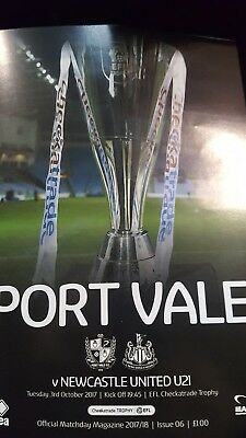 Port Vale v Newcastle United checkatrade trophy