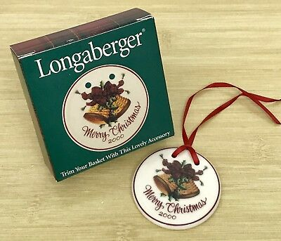 Longaberger 2000 Merry Christmas Tie-on