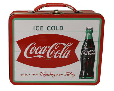 retro,old-school white tin plate coca cola lunchbox/handbag,vintage collectible