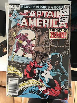 CAPTAIN AMERICA #277 VF/NM 1st Print CANADIAN PRICE VARIANT Mike Zeck