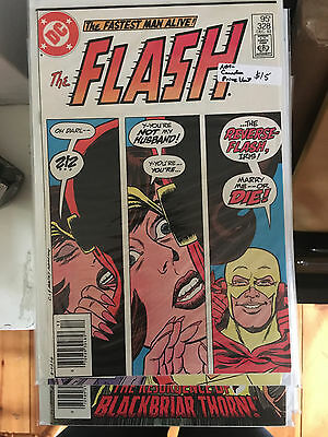 THE FLASH #328 NM- 1st Print CANADIAN PRICE VARIANT Newsstand Reverse