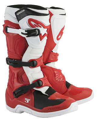 Alpinestars MX/Motocross 2018 TECH 3 Boots (Red/White) Choose Size