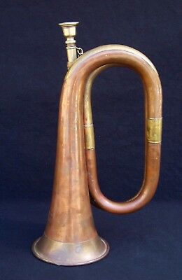 Antique Vintage ~ BESSON & Co ENGLAND Brass Military Type Bugle RARE